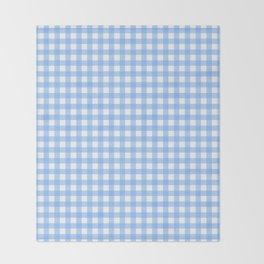 Sky Blue Gingham Throw Blanket