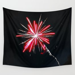 RED FIREWORK Wall Tapestry