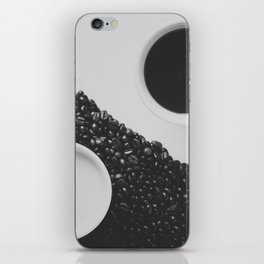 Black and White Coffee iPhone Skin