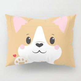 Corgi Block Pillow Sham