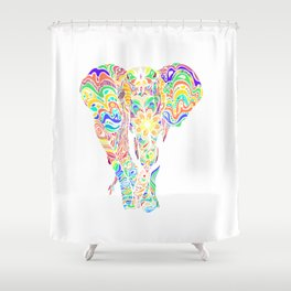 Not a circus elephant Shower Curtain