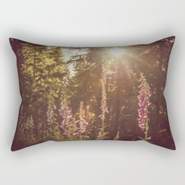 A New Day Wildflowers at Dawn - Nature Photography Rectangular Pillow