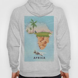 Africa travel poster Hoody