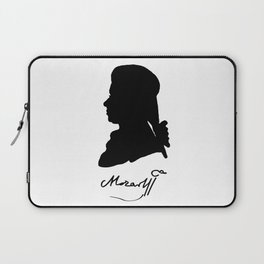 Wolfgang Amadeus Mozart (1756 -1791) silhouette, engraved by Hieronymous Löschenkohl, 1785 Laptop Sleeve