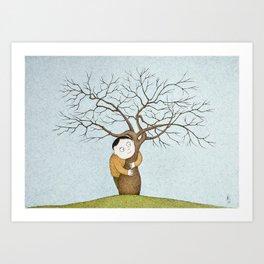 The Silk Floss Tree Hugger Art Print