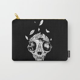The concept of winning (lucky cat skull + laurel wreath) Carry-All Pouch