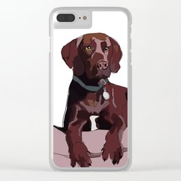 Chocolate Labrador Clear iPhone Case