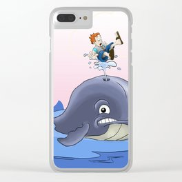 Jonah and the big fish Clear iPhone Case