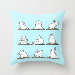 Bunnies Yoga Throw Pillow