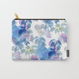 Watercolor painted foliage pattern on white background Carry-All Pouch