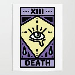 Pastel Death Tarot Card Poster