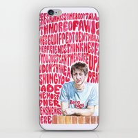 arctic monkeys iPhone & iPod Skins featuring Bigger Boys and Stolen Sweethearts - Arctic Monkeys by Frances May K
