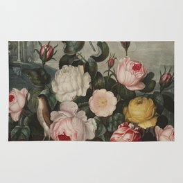 Thornton, Robert John (1768-1837) - The Temple of Flora 1807 - Roses Rug