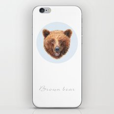 Brown Bear portrait iPhone & iPod Skin