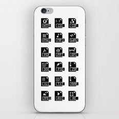 Icons iPhone Skin