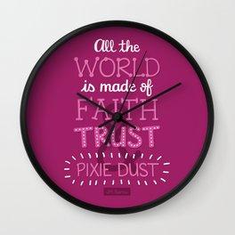 Faith, Trust, and Pixie Dust - Peter Pan Wall Clock