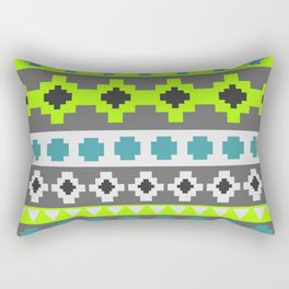 Bright tribal stripes in green and blue Rectangular Pillow