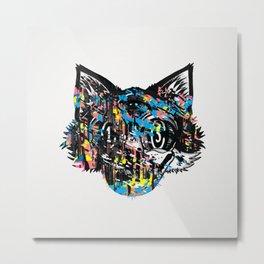 The Creative Cat (color varient) Metal Print