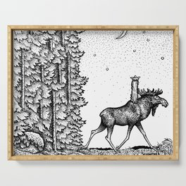 John Bauer Tuvstarr & The Moose Serving Tray