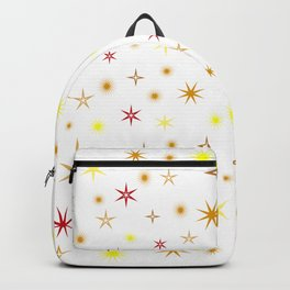 Star shapes of warm colors Backpack