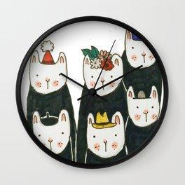 Six little friends Wall Clock