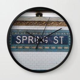 Spring Street Subway Wall Clock