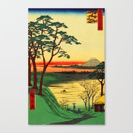 Japanese Tea House on River Canvas Print