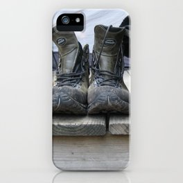 Hiking with Boots iPhone Case