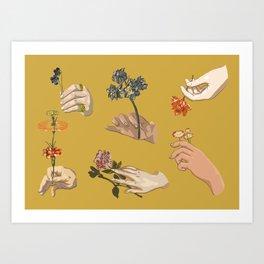 Hands in Art History Art Print