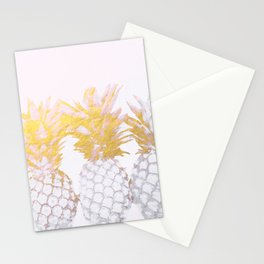 Golden pineapples Stationery Cards