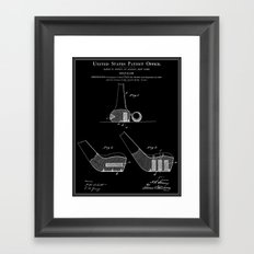 Golf Club Patent - Black Framed Art Print