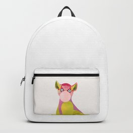 Lemur and a chewing gum club Backpack