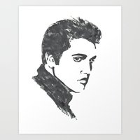 elvis Art Prints featuring Elvis by Alessia Bogdanich