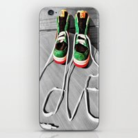 sneaker iPhone & iPod Skins featuring Sneaker Love by SefoG