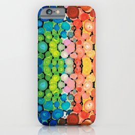 Healing Colors - Colorful Abstract Art By Sharon Cummings iPhone Case