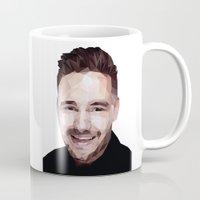 liam payne Mugs featuring Liam Payne - One Direction by jrrrdan