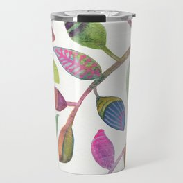 Colorful Leaves Watercolor Travel Mug