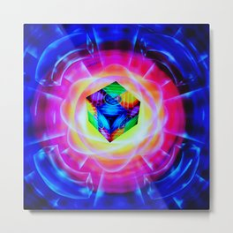 Abstract perfection - Cube Metal Print