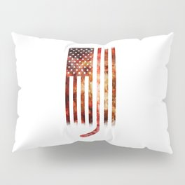 Ice Hockey USA Flag Pillow Sham