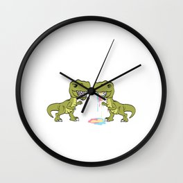 """""""Dude, Did You Eat The Last Unicorn? No!"""" Unique Dinosaur Tee For Animal Lovers T-shirt Design Wall Clock"""