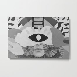 What is Art? (Black and White) Metal Print