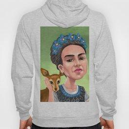Frida Kahlo with monkeys Hoody
