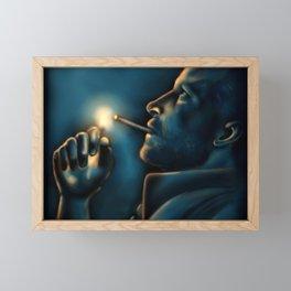 Blue Eyes Crying in the Rain Framed Mini Art Print
