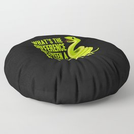 Ophiology Pet Snakes Snek and Reptiles Gift Idea Floor Pillow