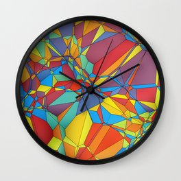 Colorful miscellaneous shapes Wall Clock