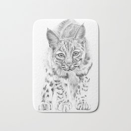 On the Prowl :: A Young Bobcat Bath Mat