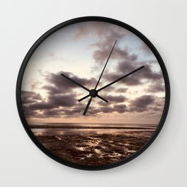 Clouds On The Water Wall Clock