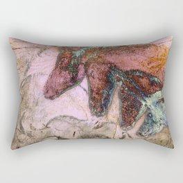 Chauvet Cave Horse Heads I Rectangular Pillow