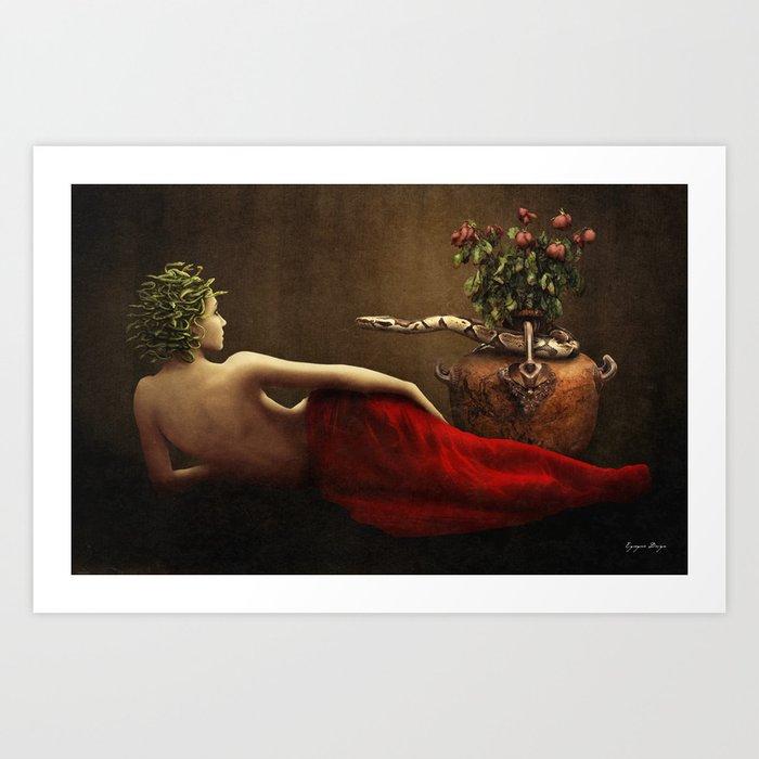 Dark Classical Medusa Art Print