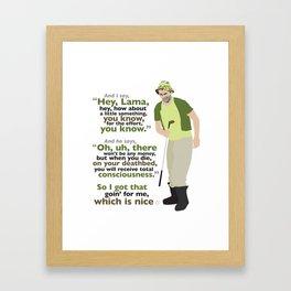 Carl Spackler and the Lama Framed Art Print